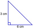 triangle with area=9 sq cm