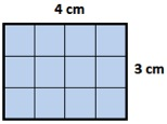 area of rectangle=12 sq cm