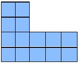 area of shape=14 sq units
