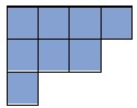 area of shape=8 sq units