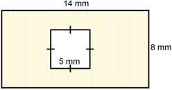 area of square and rectangle=87 sq mm