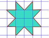 area of star=8 sq units