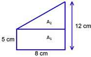 shape with area=68 sq cm