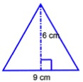 triangle with area=27 sq cm