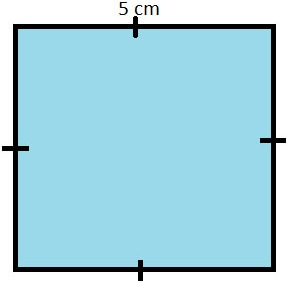 square with side=5cm